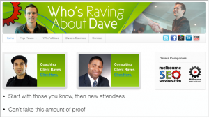 Raving about dave