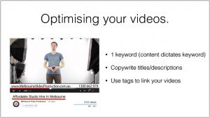 optimise youtub video