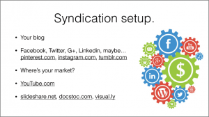 syndication Set up