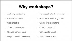 why workshop